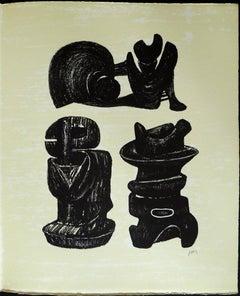 Three Sculptural Forms, from: Poetry  La Poésie