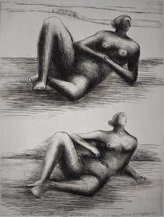 Two Reclining Figures VIII - British Figurative