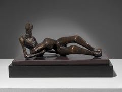 Maquette for Reclining Figure No 2 - 20th Century, Bronze by Henry Moore