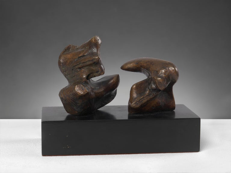 Henry Moore Abstract Sculpture - Maquette for Two Piece Reclining Figure: Points