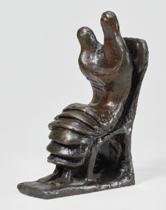 Mother and Child: Petal Skirt - Henry Moore, sculpture, modern, british, small