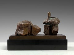 Two Piece Reclining Figure: Maquette No.1 - 20th Century, Bronze by Henry Moore