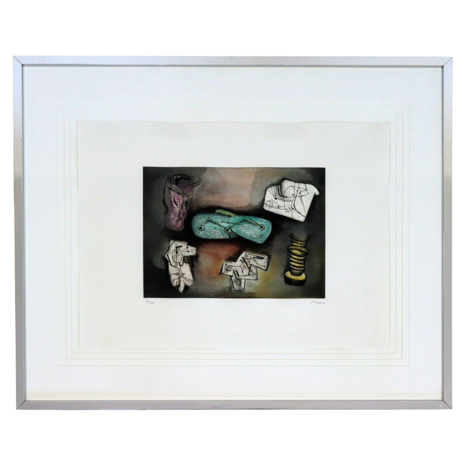 Henry Moore Signed Etching Aquatint Framed Sculptural Ideas