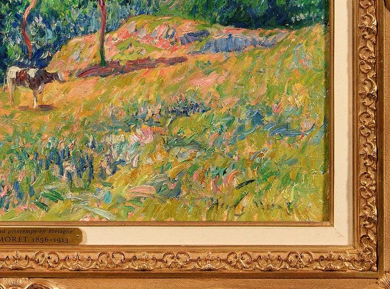 Le Printemps a Clohars en Bretagne - Impressionist Painting by Henry Moret