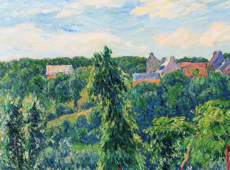 Le Printemps a Clohars en Bretagne - Brown Landscape Painting by Henry Moret