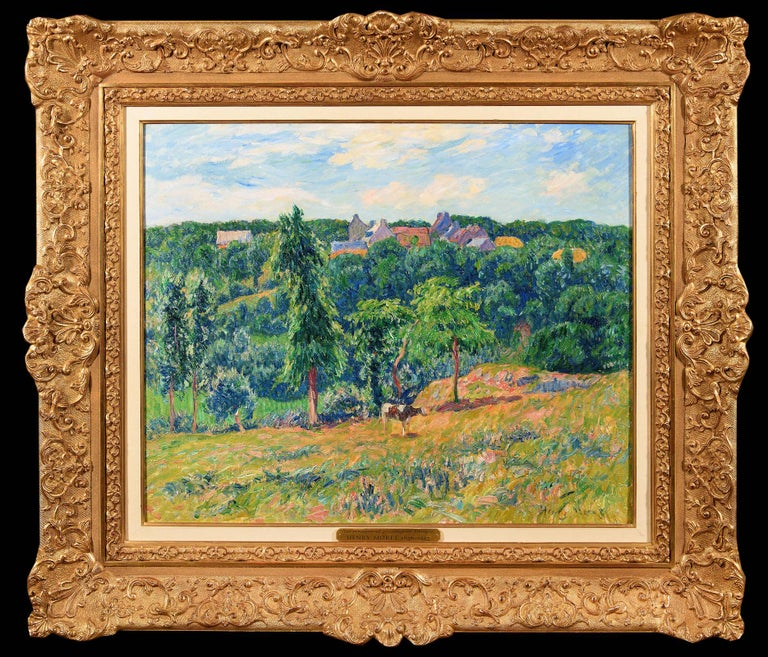 Henry Moret Landscape Painting - Le Printemps a Clohars en Bretagne