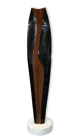 Abstract Figure, Large Standing Sculpture by Henri Moretti