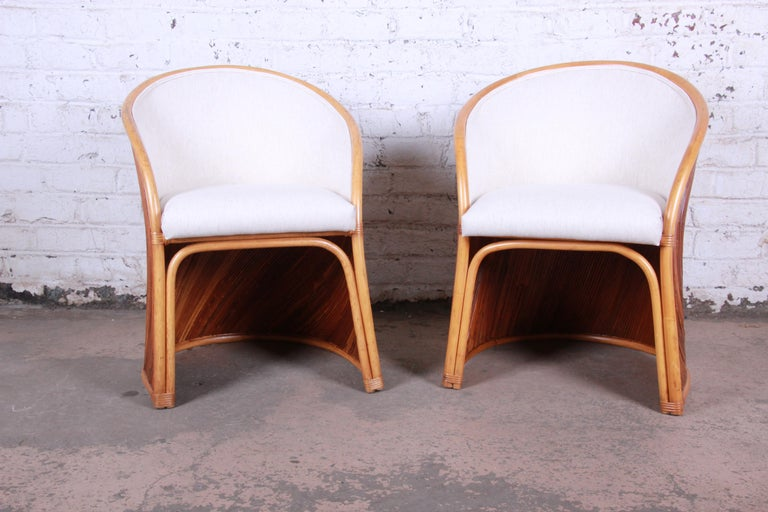 Midcentury Bamboo Dining Set In The Manner Of Henry Olko, circa 1978 For Sale 4