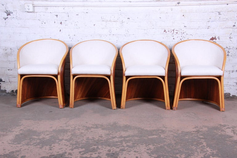 Midcentury Bamboo Dining Set In The Manner Of Henry Olko, circa 1978 For Sale 1