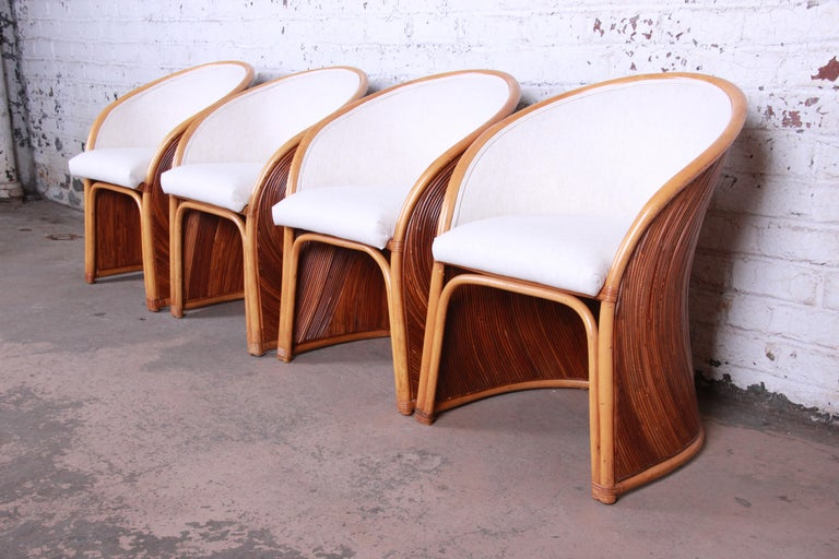 Midcentury Bamboo Dining Set In The Manner Of Henry Olko, circa 1978 For Sale 2