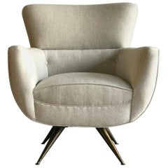 Henry P. Glass Swivel Chair