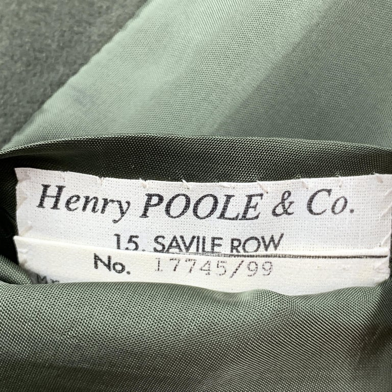 HENRY POOLE & CO Size 40 Forest Green Wool Double Breasted Vest In Excellent Condition In San Francisco, CA