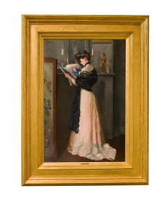 At the Mantel, Portrait of a Lady