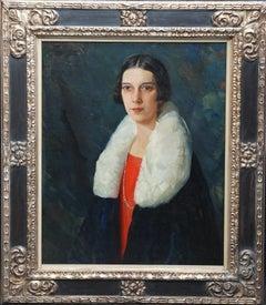 Portrait of a 1920's Lady - American Art Deco female portrait oil painting