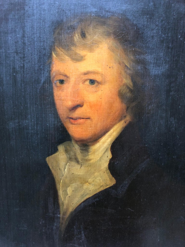 Portrait, Oil painting of a Gentleman follower of Sir Henry Raeburn - Painting by Henry Raeburn (circle)