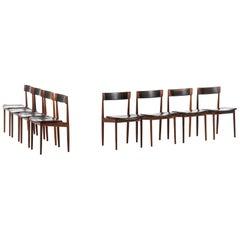 Henry Rosengren Hansen Dining Chairs Model 39 Produced by Brande Møbelfabrik