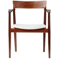 Henry Rosengren Hansen Rosewood and Boucle Armchair, 1960