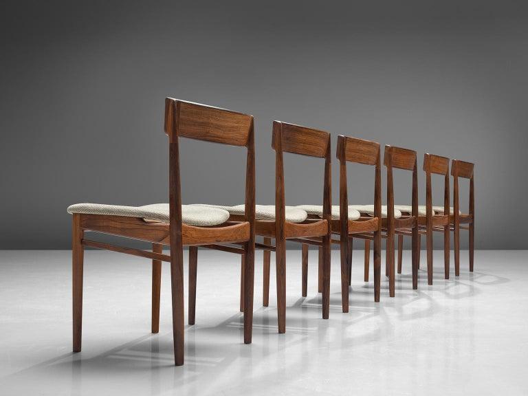 Mid-Century Modern Henry Rosengren Hansen Rosewood Dining Chairs '39' For Sale