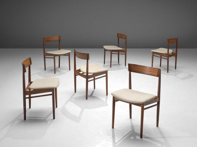 Danish Henry Rosengren Hansen Rosewood Dining Chairs '39' For Sale