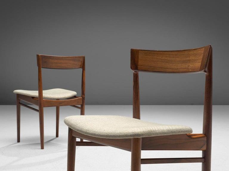 Henry Rosengren Hansen Rosewood Dining Chairs '39' In Good Condition For Sale In Waalwijk, NL