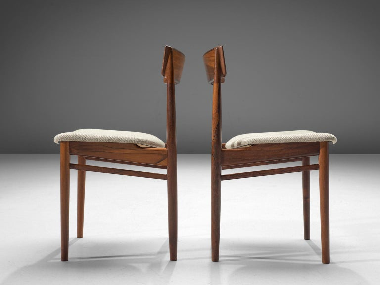 Mid-20th Century Henry Rosengren Hansen Rosewood Dining Chairs '39' For Sale