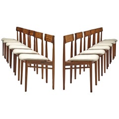 Henry Rosengren Hansen Set of Twelve Rosewood Dining Chairs 'Model 39'
