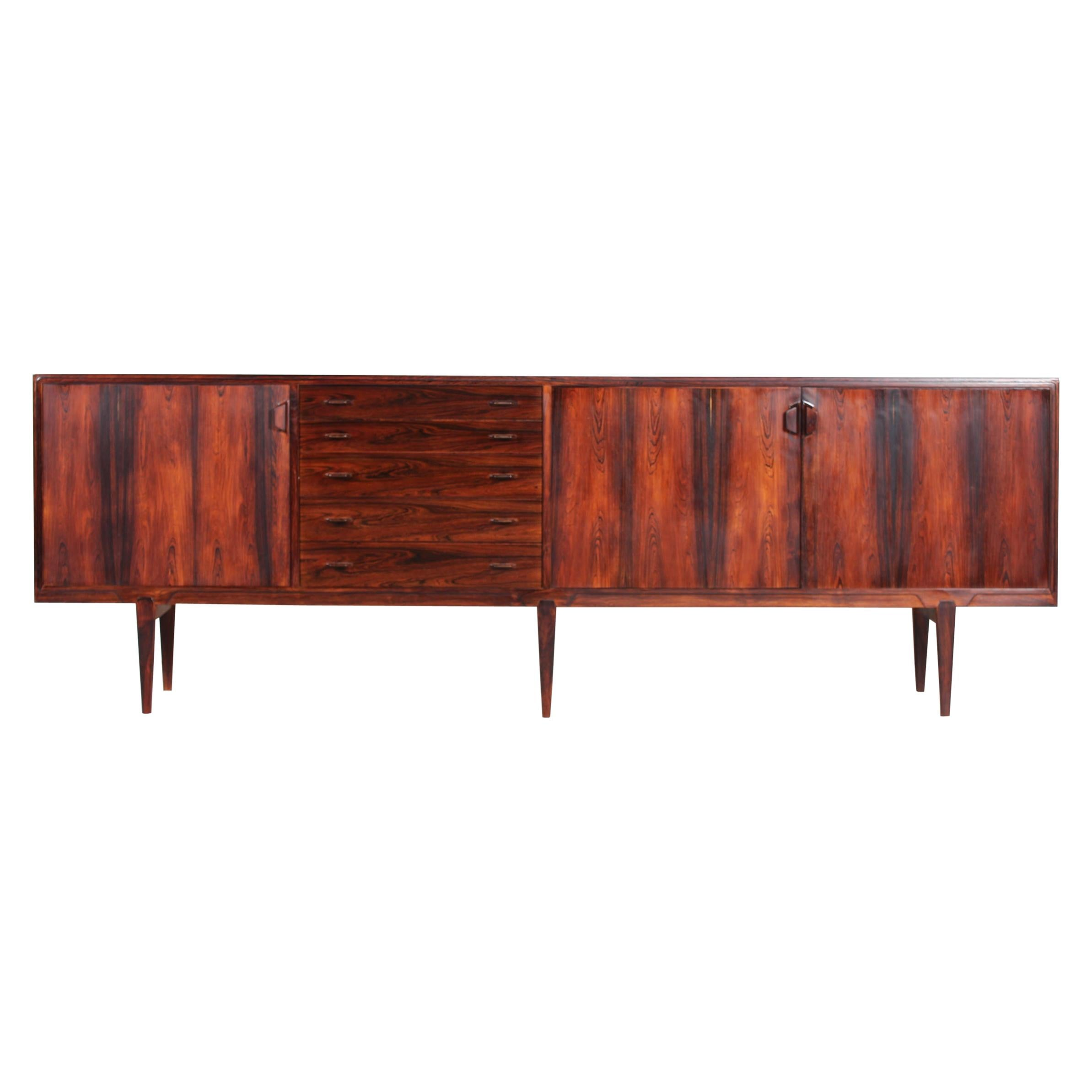 Henry Rosengren Hansen Sideboard of Rosewood by Brande Møbelfabrik, Denmark