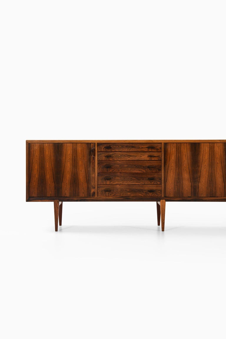 Very rare sideboard designed by Henry Rosengren Hansen. Produced by Brande Møbelfabrik in Denmark.