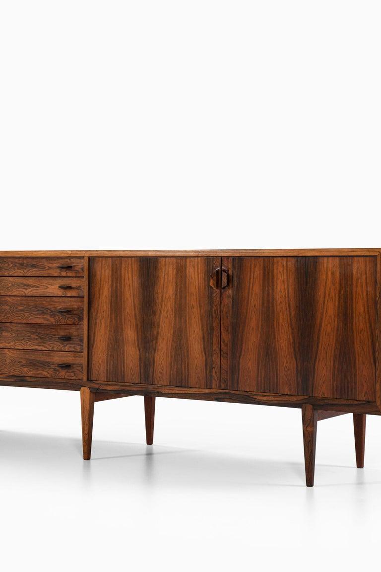 Mid-20th Century Henry Rosengren Hansen Sideboard Produced by Brande Møbelfabrik in Denmark For Sale