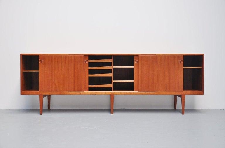 Mid-20th Century Henry Rosengren Hansen Teak Sideboard, Denmark, 1960 For Sale