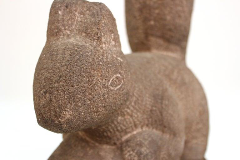 American Henry Schoenbauer Squirrel Stone Sculpture For Sale