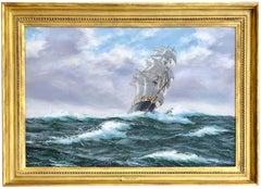 Tea Clipper in High Seas