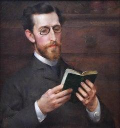 Augustus Saint-Gaudens - 19th Century Portrait Oil Painting of Famous Artist