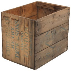 Henry Tate & Sons Ltd. London Sugar Cube Wooden Crate