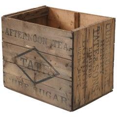 Henry Tate & Sons Sugar Cube Crate, circa 1900