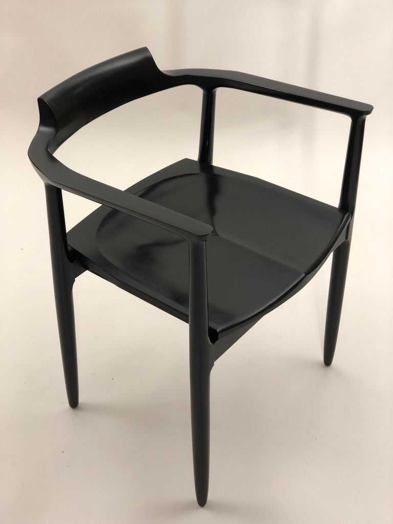 Lacquered Henry the Armchair in Black Lacquer