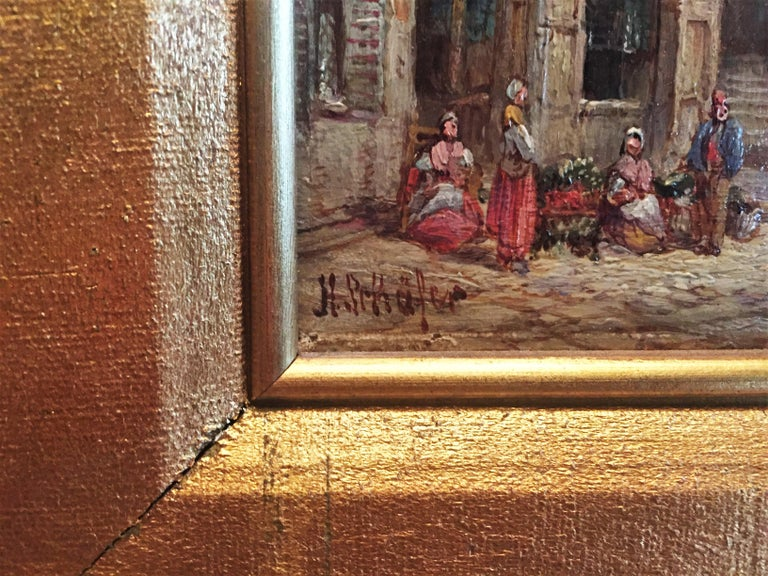 Henry Thomas Schäfer, a Pair of Oil on Canvas Architectural Paintings circa 1880 For Sale 2
