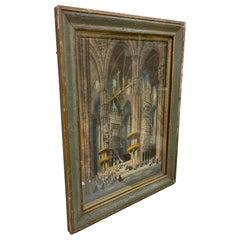 Henry Thomas Schafer British Victorian Era Art Watercolor Church Milano Italia