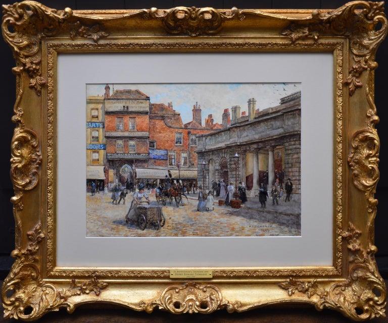 St Bartholomew's Smithfield 1899 - 19th Century Watercolour of Victorian London  - Art by Henry Tidmarsh