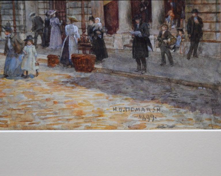 St Bartholomew's Smithfield 1899 - 19th Century Watercolour of Victorian London  3