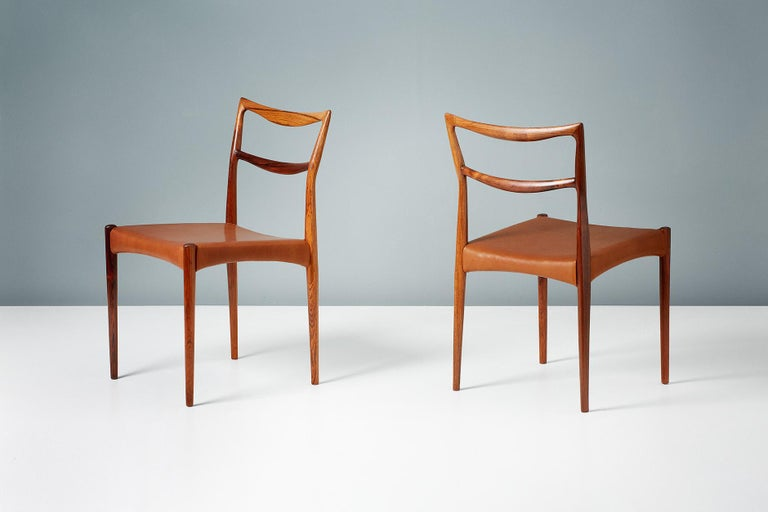 Scandinavian Modern Henry W. Klein Set of 6 Rosewood Dining Chairs, circa 1960s For Sale