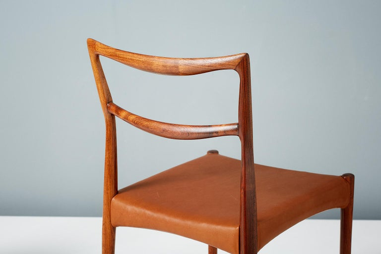 Danish Henry W. Klein Set of 6 Rosewood Dining Chairs, circa 1960s For Sale