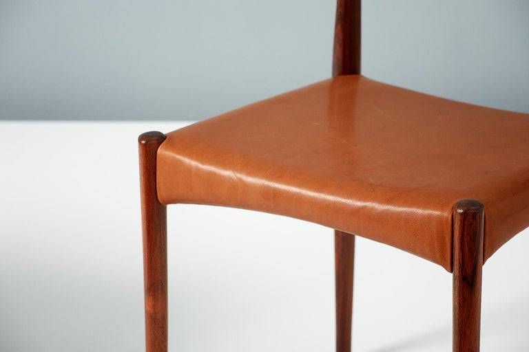 Mid-20th Century Henry W. Klein Set of 6 Rosewood Dining Chairs, circa 1960s For Sale
