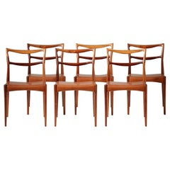 Henry W. Klein Set of 6 Rosewood Dining Chairs, circa 1960s