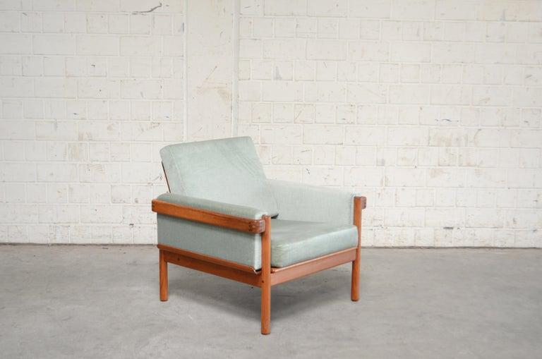 Scandinavian Modern Henry Walter Klein Danish Modern Pair of Teak Easy Chair for Bramin For Sale