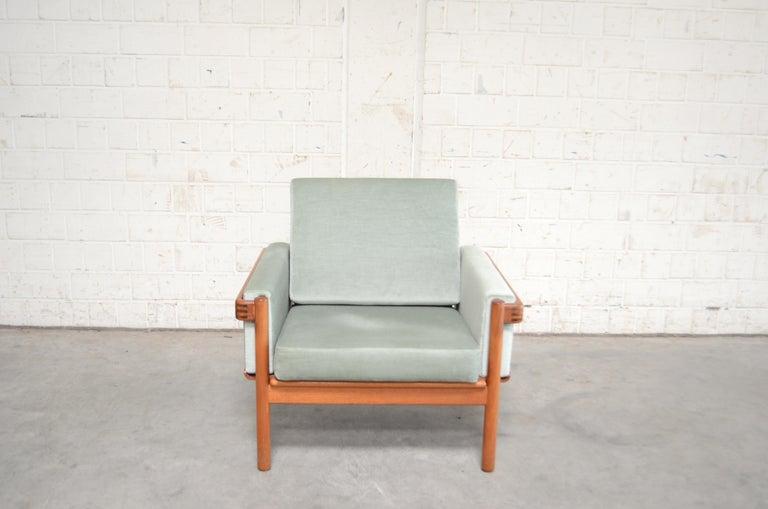 Oiled Henry Walter Klein Danish Modern Pair of Teak Easy Chair for Bramin For Sale