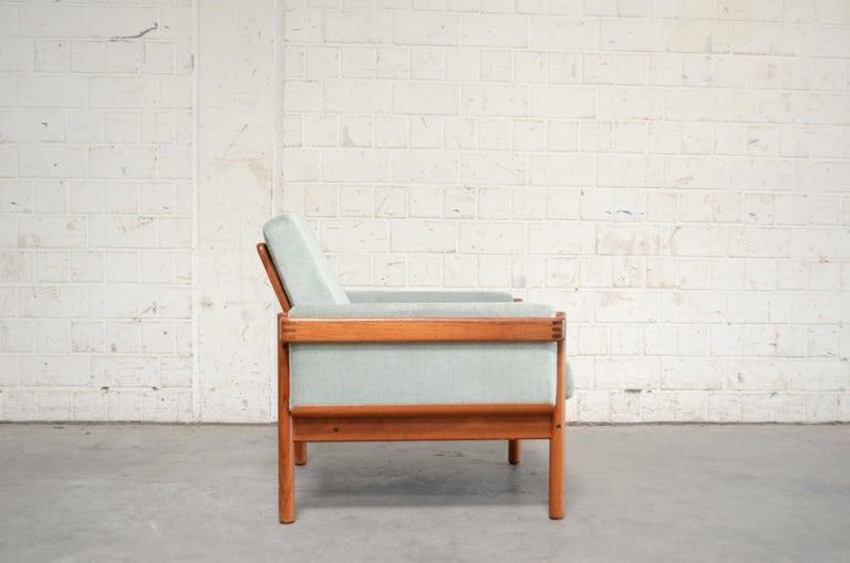 Fabric Henry Walter Klein Danish Modern Pair of Teak Easy Chair for Bramin For Sale