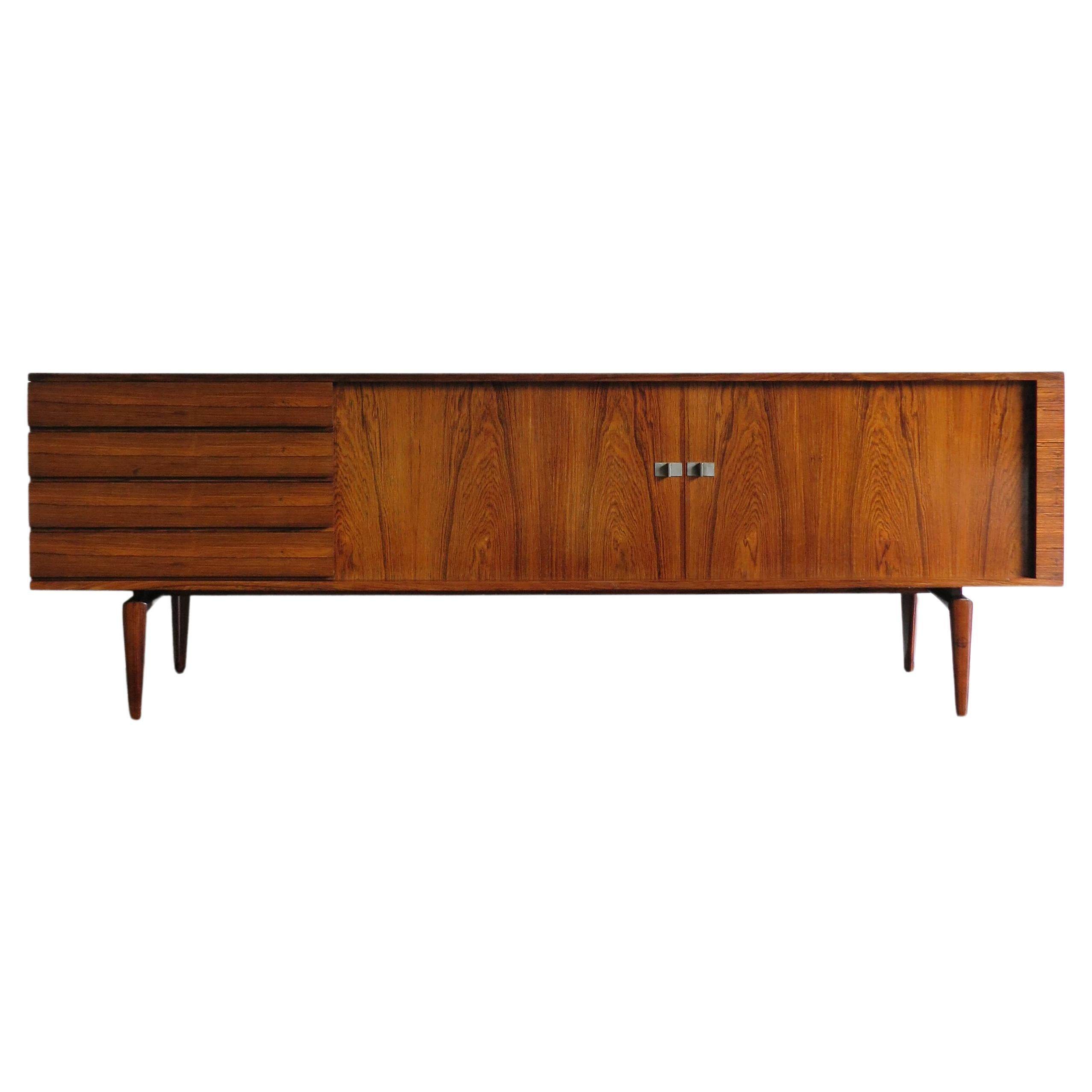 Henry Walther Klein Scandinavian Midcentury Dark Wood Sideboard, 1950s
