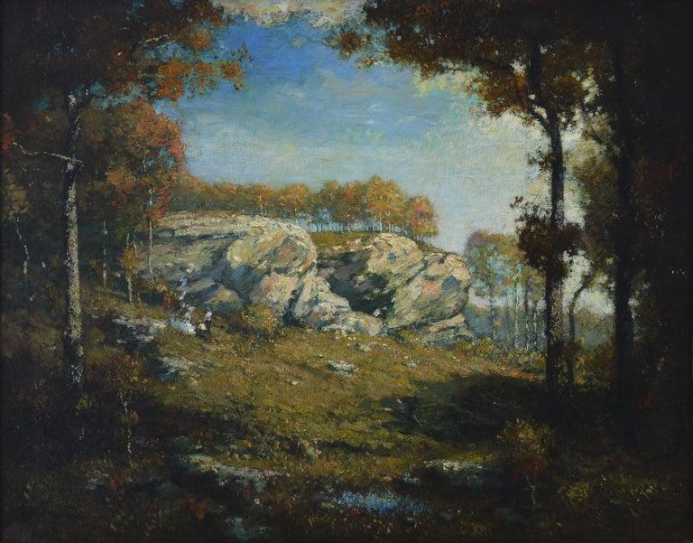 Sentinel Rock - Tonalist Painting by Henry Ward Ranger