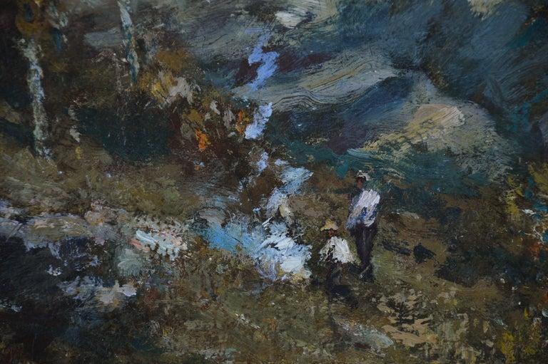 Sentinel Rock - Black Landscape Painting by Henry Ward Ranger